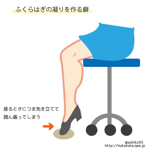 ふくらはぎの凝りを作る癖(椅子に座るとき)